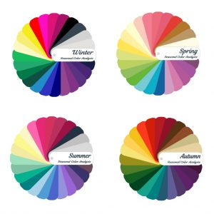 palette per l' analisi del colore dell'armocromia